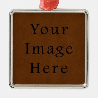 Papel de pergamino bronceado cuero de Brown del Adorno Cuadrado Plateado