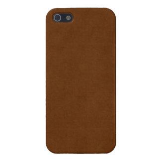 Papel de pergamino bronceado cuero de Brown del iPhone 5 Carcasas