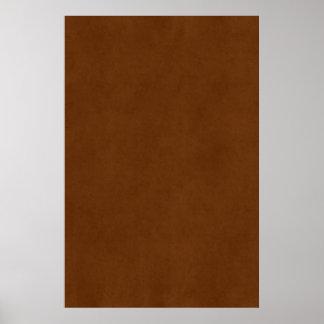 Papel de pergamino bronceado cuero de Brown del Poster