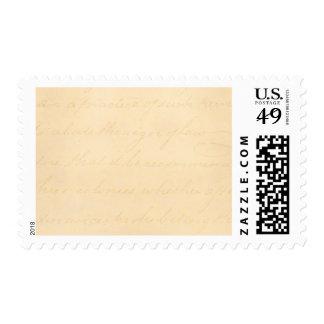 Papel de pergamino colonial de la escritura del envio