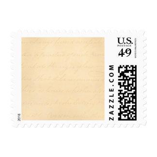 Papel de pergamino colonial de la escritura del sello