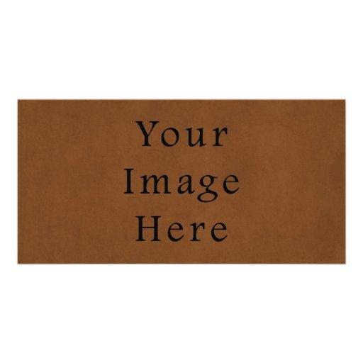 Papel de pergamino de cuero bronceado vintage de B Tarjeta Fotografica