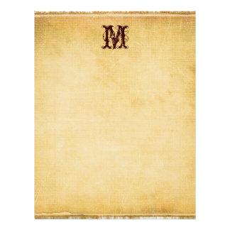 Papel de pergamino del monograma del vintage plantilla de membrete