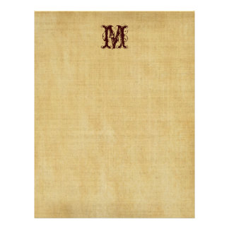 Papel de pergamino del monograma del vintage membretes personalizados