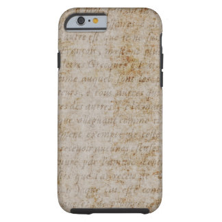 Papel de pergamino del texto del moreno de Brown Funda Para iPhone 6 Tough