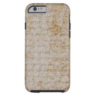 Papel de pergamino del texto del moreno de Brown Funda Resistente iPhone 6