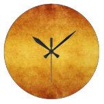 Papel de pergamino envejecido vintage del Umber qu Reloj De Pared