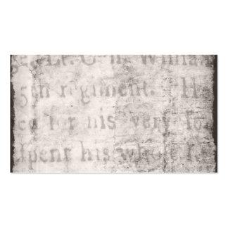 Papel de pergamino gris del texto del negro de los tarjetas de visita