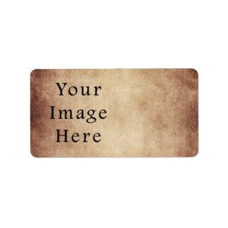 Papel de pergamino ligero envejecido vintage de Br Etiqueta De Dirección