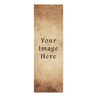 Papel de pergamino ligero envejecido vintage de Br Tarjetas De Visita Mini