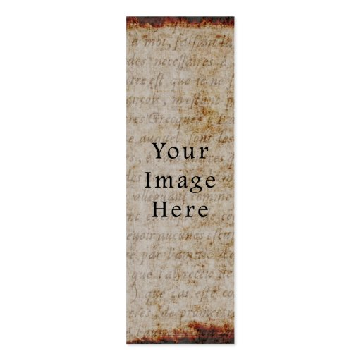 Papel de pergamino marrón claro del texto de la es tarjetas de visita mini
