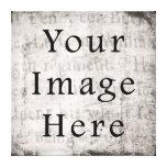 Papel de pergamino negro gris del texto de la escr impresión de lienzo
