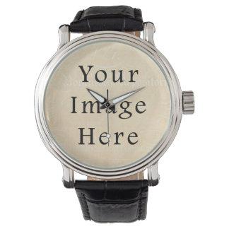Papel de pergamino poner crema beige del texto de relojes de pulsera