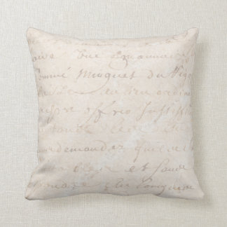 papel de pergamino retro francés de la escritura cojín decorativo