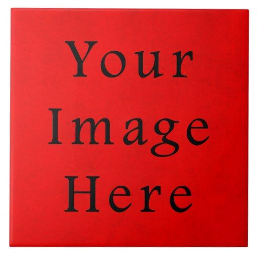 Papel de pergamino rojo del navidad del día de fie azulejo cuadrado grande