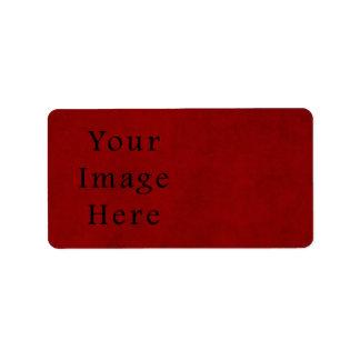 Papel de pergamino rojo del navidad del día de fie etiquetas de dirección
