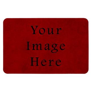 Papel de pergamino rojo del navidad del día de fie imanes rectangulares