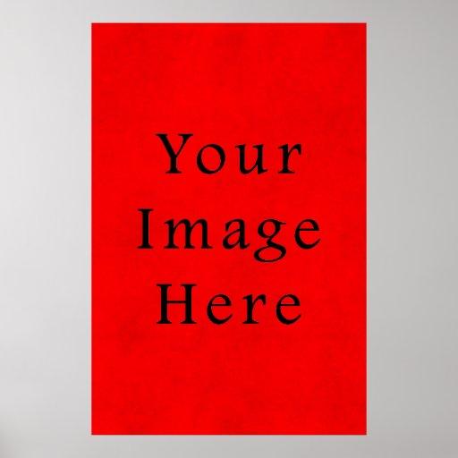 Papel de pergamino rojo del navidad del día de fie poster