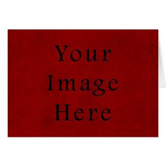 Papel de pergamino rojo del navidad del día de fie tarjeta de felicitación