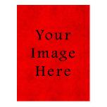 Papel de pergamino rojo del navidad del día de fie tarjeta postal