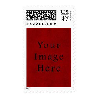 Papel de pergamino rojo del navidad del día de timbre postal