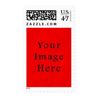 Papel de pergamino rojo del navidad del día de timbres postales