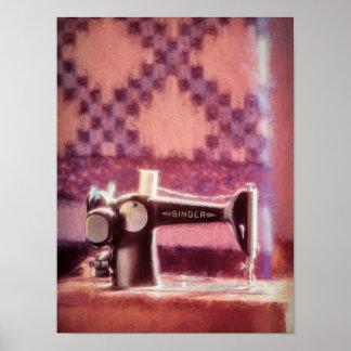 Papel de poster del valor de la máquina de coser póster