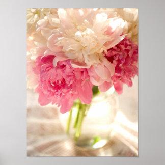 Papel de poster floral rosado del valor (mate) póster