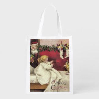 Papel de regalo alternativo de Santa del vintage, Bolsas De La Compra