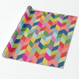 Papel de regalo colorido moderno de la raspa de