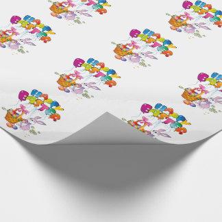 Papel de regalo/conejito de Pascua con la cesta Papel De Regalo