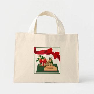 Papel de regalo de la bolsa de asas del navidad de