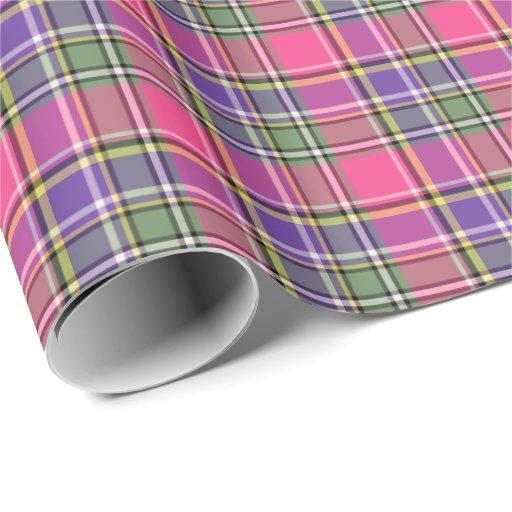 Papel de regalo de la tela escocesa del vintage de