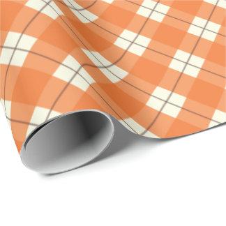 Papel de regalo de la tela escocesa/papel de