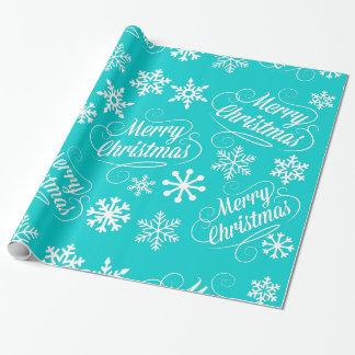 Papel de regalo de las Felices Navidad de los