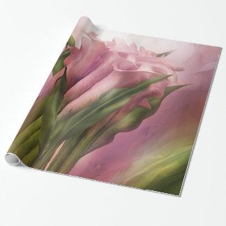 Papel de regalo del arte de las calas rosadas