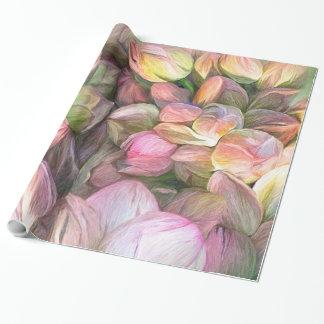 Papel de regalo del arte de los humores de Lotus