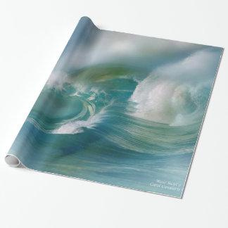 Papel de regalo del arte del remolino de la onda