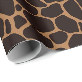 Papel de regalo del estampado de girafa del tema