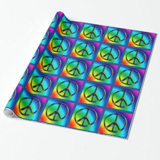 Papel de regalo del Hippie del signo de la paz