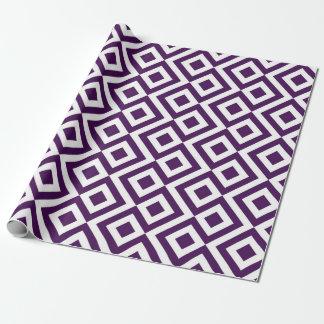 Papel de regalo del meandro de la púrpura y del