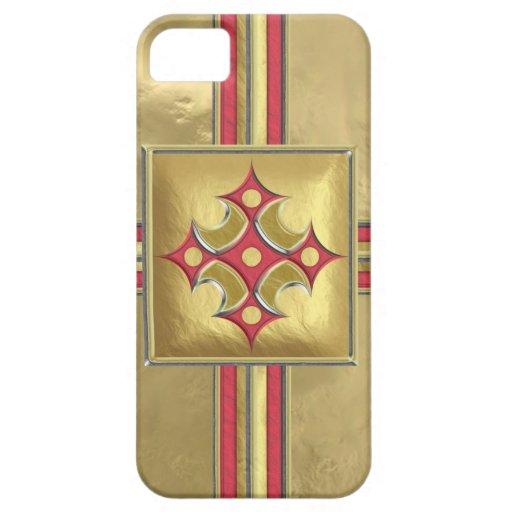 Papel de regalo del medallón funda para iPhone 5 barely there