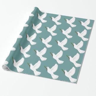 Papel de regalo del navidad de la paloma del