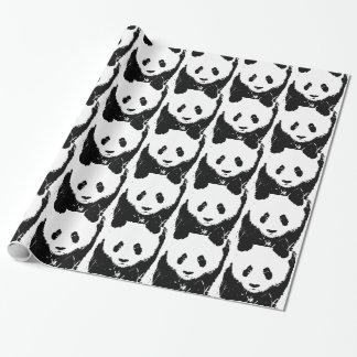 Papel de regalo del navidad de la panda del arte