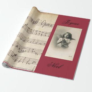 PAPEL DE REGALO francés de la foto de la partitura