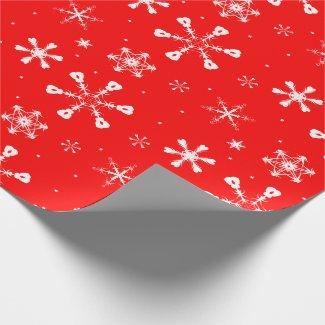Papel de Regalo Mate - Copos de Navidad