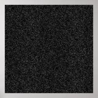 Papel de regalo negro del brillo posters
