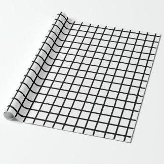 Papel de regalo negro y blanco adaptable del