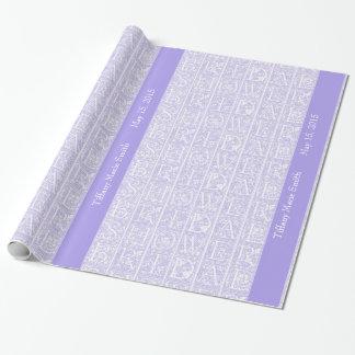 Papel de regalo personalizado ducha nupcial de la