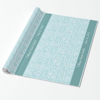 Papel de regalo personalizado ducha nupcial del